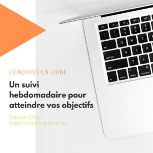 coaching en ligne consultation à distance Déborah jean diététicienne nutritionniste