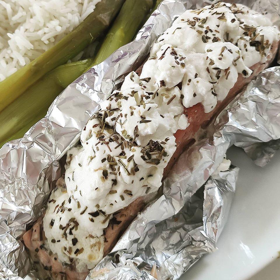 Papillote saumon chèvre frais deborah jean diététicienne nutritionniste