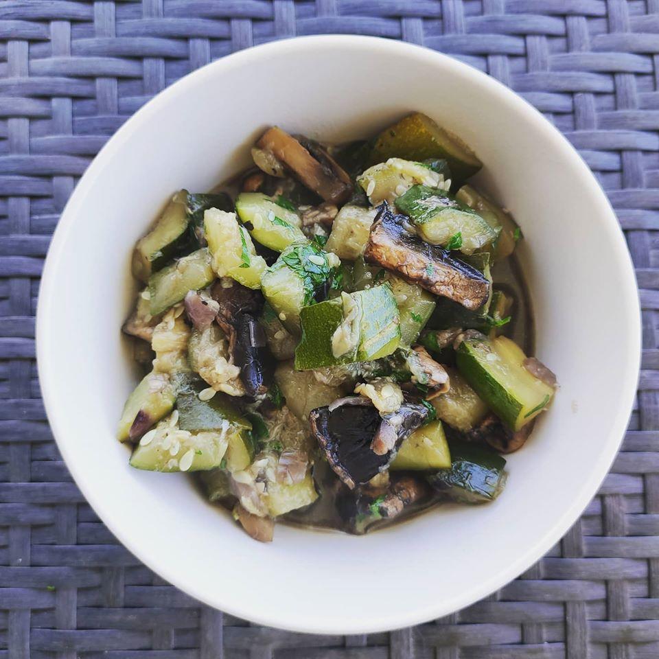poêlée courgettes champignons deborah jean diététicienne nutritionniste toulouse