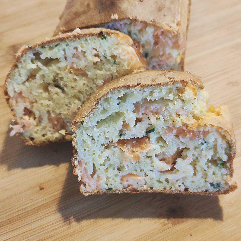 cake saumon fumé ciboulette deborah jean diététicienne nutritionniste toulouse